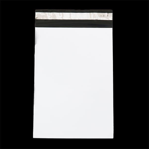 画像1: 宅配ビニール袋 ネコポスサイズ 白 220x310+50mm #60 (1)
