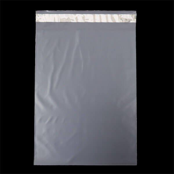 画像1: 宅配ビニール袋 A4サイズ グレー 250x330+50mm #60 (1)