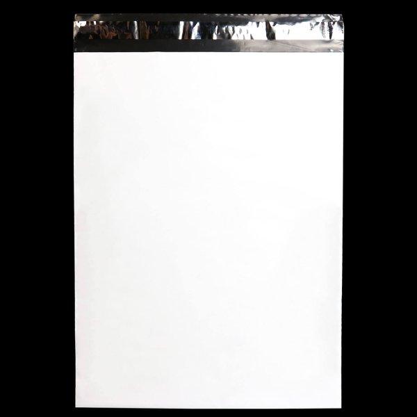 画像1: 宅配ビニール袋 B4サイズ 白 300x400+50mm #60 (1)
