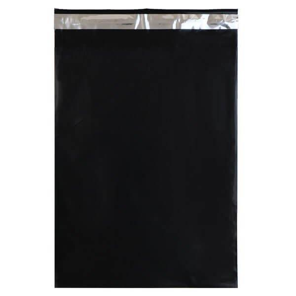 画像1: 宅配ビニール袋 A4サイズ ブラック250x330+50mm #60 (1)