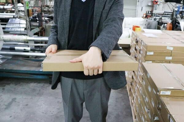 宅配ビニール袋の梱包イメージ